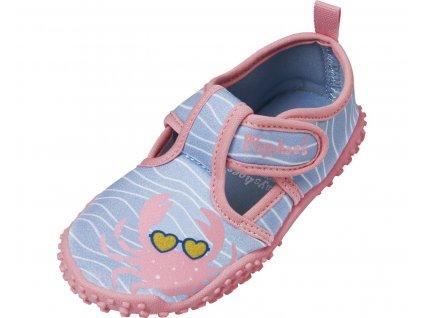 Boty do vody Playshoes růžové s krabem