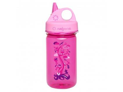 Nalgene dětská láhev Grip n´Gulp 350 ml růžová Woodland