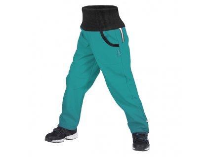 unuo detske softshellove kalhoty s fleecem street sv smaragdova velikost 140 146 189822 0