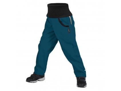 Unuo softshellové kalhoty s fleecem Street kobaltová