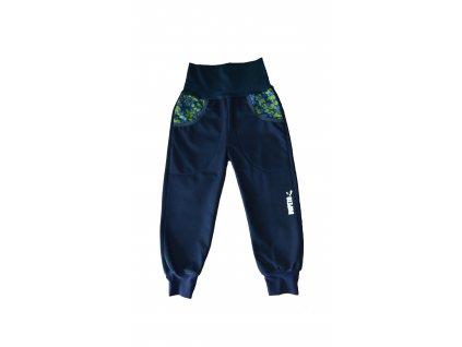 DupeTo zateplené softshellové kalhoty modré Borůvky