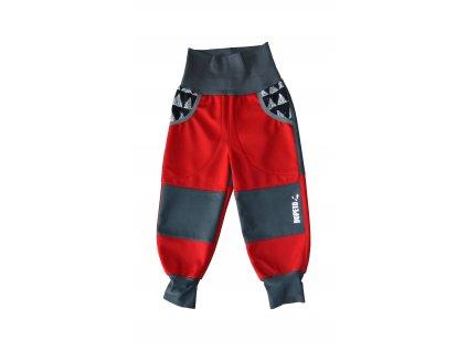DupeTo zateplené softshellové kalhoty červené Triangle
