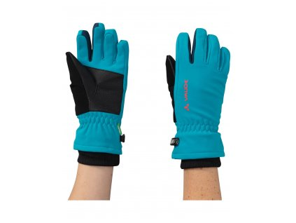 Dětské softshellové rukavice Vaude Rondane Arctic blue