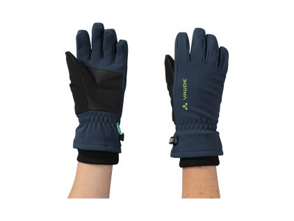 Dětské softshellové rukavice Vaude Rondane Dark sea / green