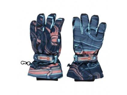 Dětské zimní rukavice LEGO® Wear Azun modro-růžové