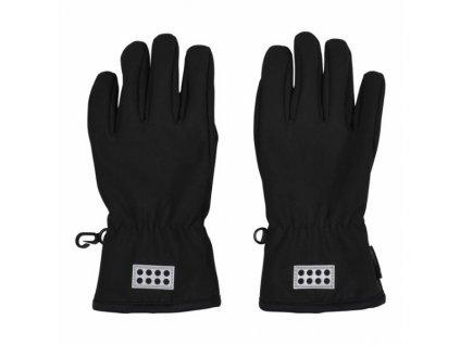 Dětské softshellové rukavice LEGO® Wear Atlin černé
