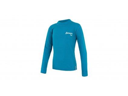 Sensor Merino DF LOGO juniorské funkční tričko modré