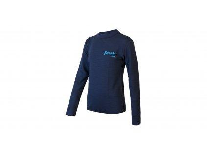 Sensor Merino DF LOGO juniorské funkční tričko tmavě modré