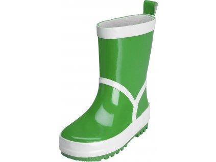 Kvalitní dětské gumáky z přírodního kaučuku Playshoes v zelené barvě