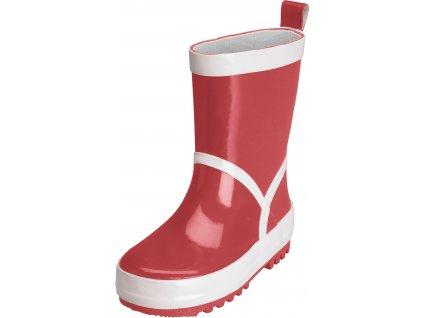 Kvalitní dětské gumáky se stahovací šňůrou Playshoes v červené barvě