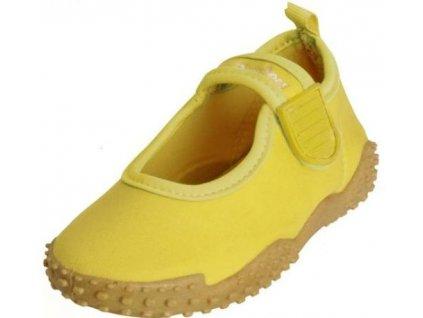 Kvalitní dětské lehké a prodyšné boty do vody Playshoes ve žluté barvě