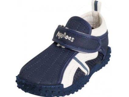 Kvalitní dětské lehké a prodyšné boty do vody Playshoes s přezkou modré