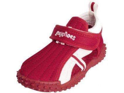 Boty do vody Playshoes s přezkou červené