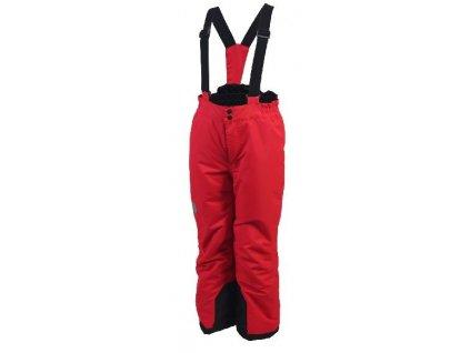 Kvalitní dětské zimní oteplovačky vhodné na lyže nebo zimní dovádění ve sněhu Color Kids Salix ski pants Racing red v červené barvě