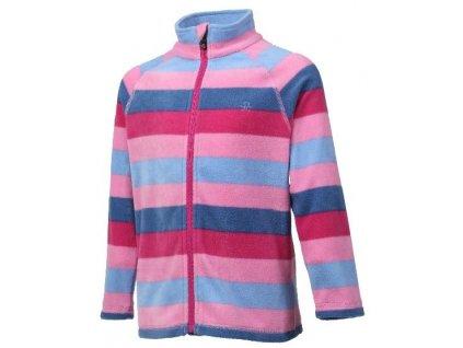 Dětská fleecová mikina Color Kids Nelido - Fuchsia pink