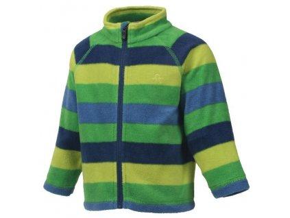 Kvalitní dětská hřejivá jarní fleecová mikina Color Kids Nelido - Online green v zelené barvě