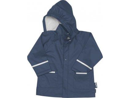 Kvalitní dětská nepromokavá jarní bunda (pláštěnka) s kapucí a reflexními prvky Playshoes v modré barvě