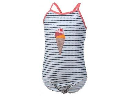 Kvalitní dívčí rychleschnoucí jednodílné plavky s UV ochranou Color Kids Nova - Estate blue