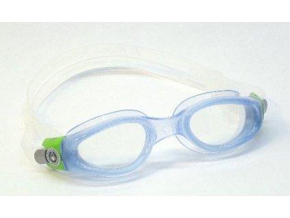 Dětské plavecké brýle KAIMAN aqua, zelená / čirý zorník