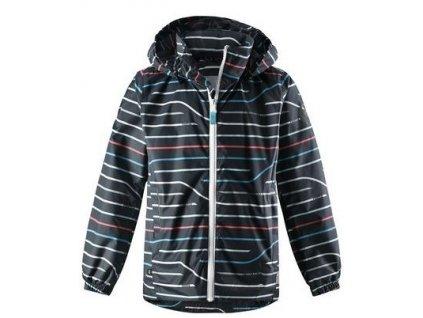 Kvalitní dětská nepromokavá bunda s membránou, kapucí a reflexními prvky Reima Svinge - Soft black v černé barvě
