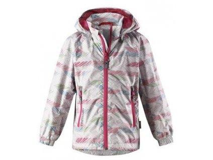 Dívčí membránová bunda Reima Zigzag - Light grey