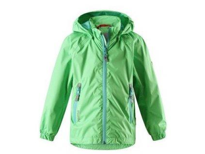 Kvalitní dětská nepromokavá bunda s membránou, kapucí a reflexními prvky Reima Zigzag - Summer green v zelené barvě