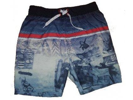 Kvalitní chlapecké rychleschnoucí šortkové plavky s UV ochranou Losan Beach tmavě modré