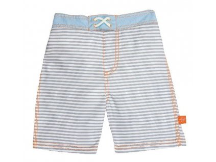 Kvalitní dětské chlapecké šortkové plavky s vnitřní plenkou a UPF 50+ Lassig board shorts boys Small stripes ve světle modré barvě