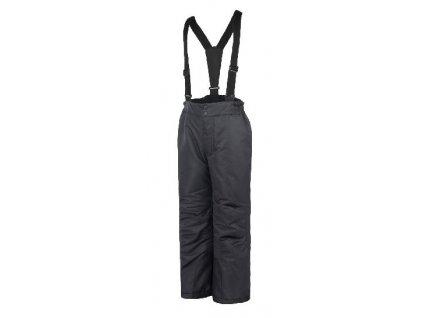Kvalitní dětské zimní oteplovačky vhodné na lyže nebo zimní dovádění ve sněhu Color Kids Salix ski pants Black v černé barvě