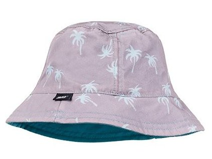Kvalitní dětský bavlněný klobouček Maximo palmy v růžové barvě
