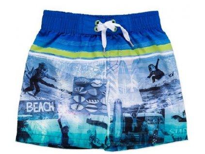Kvalitní chlapecké rychleschnoucí šortkové plavky s UV ochranou Losan Beach modré