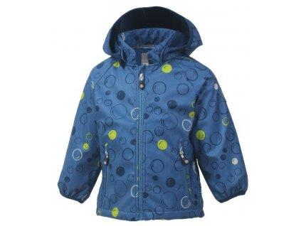 Kvalitní dětská prodyšná jarní softshellová bunda s kapucí a reflexními prvky Color Kids Veast - Jeans blue v modré barvě