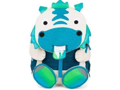 Kvalitní dětský nylonový, komfortní a propracovaný batoh do školky Affenzahn 8l - Dráček Diego v modro-bílé barvě