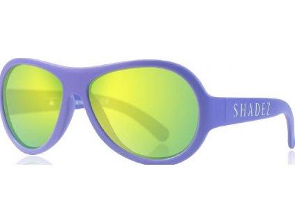 Kvalitní dětské sluneční brýle pro batolata s ochranou před UVA i UVB zářením a bez BPA Shadez Classics Baby - Purple ve fialové barvě