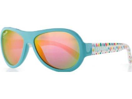 Kvalitní dětské sluneční brýle s ochranou před UVA i UVB zářením a bez BPA Shadez Designers - Ice Cream Blue v modré barvě