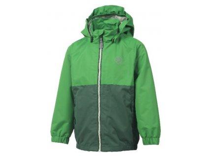 Kvalitní dětská nepromokavá jarní bunda s kapucí a reflexními prvky Color Kids Thy - Greener pastures v zelené barvě