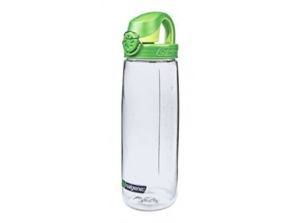 Nalgene dětská láhev OTF 650 ml čirá - zelené víčko