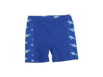 Kvalitní dětské chlapecké prodyšné jednodílné plavky Playshoes Žralok v modré barvě