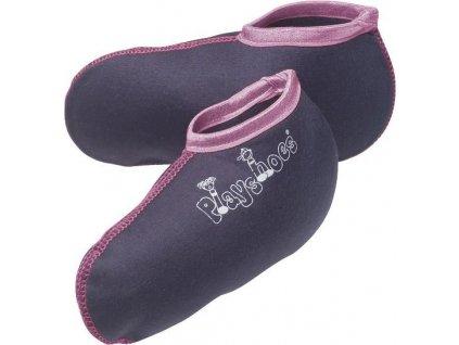 Kvalitní dětské bavlněné vložky pro zateplení gumáků Playshoes s růžovým okrajem