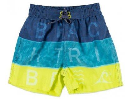 Kvalitní chlapecké rychleschnoucí šortkové plavky s UV ochranou Losan modro-žluté