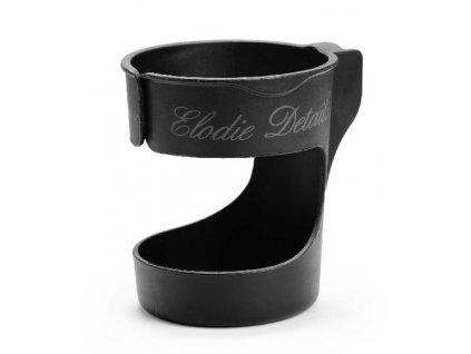 Kvalitní praktický držák na pití pro kočárek Elodie Details v černé barvě