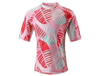 Kvalitní dětské plážové tričko s krátkým rukávem a UV ochranou Reima Fiji - Bright red v červené barvě
