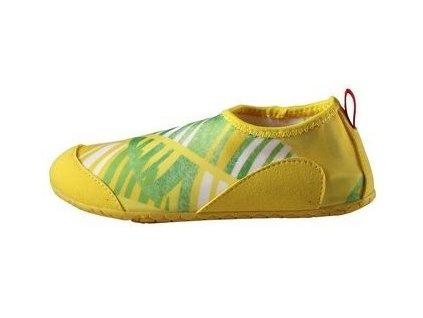 Kvalitní dětské rychleschnoucí boty do vody s UV ochranou Reima Twister - Yellow ve žluté barvě