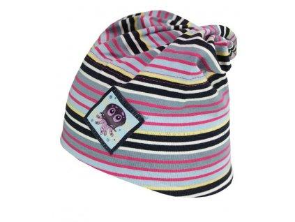 Kvalitní dětská bavlněná zimní čepice Maximo s chobotničkou