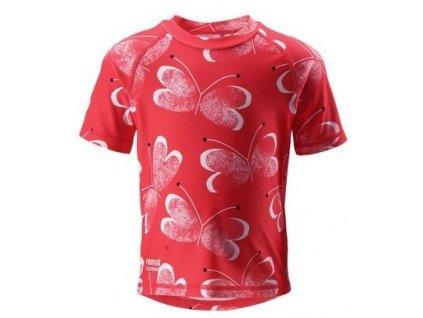 Dětské UV tričko Reima Azores - Bright red
