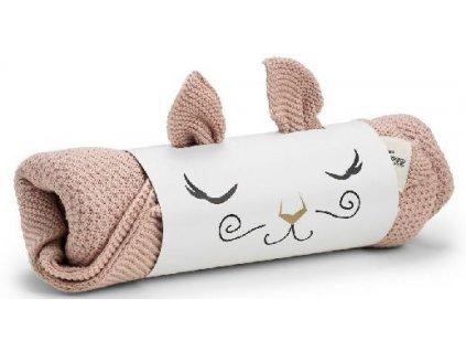 Pletená deka Elodie Details - Powder Pink