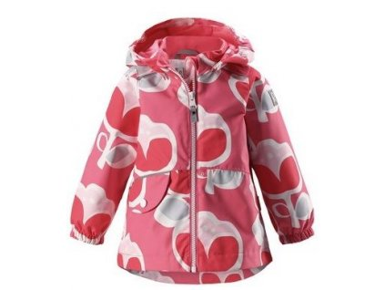 Kvalitní dětská dívčí nepromokavá bunda s membránou, kapucí a reflexními prvky Reima Berry - Pink rose v růžové barvě