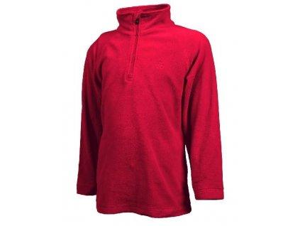 Kvalitní dětská hřejivá jarní fleecová mikina Color Kids Sandberg fleece Racing red v červené barvě