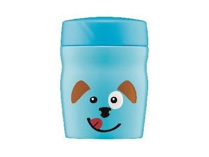 Kvalitní termonádoba na jídlo z nerezové oceli vhodná pro děti Alfi Dog 0,35l ve světle modré barvě