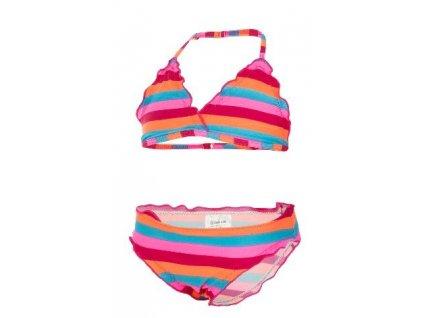 Kvalitní dětské dívčí dvoudílné rychleschnoucí plavky s UV ochranou Bikini Vivi Color Kids UPF 40+